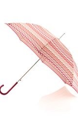 Missoni Giorgia Zigzagprint Umbrella Large Red - Lyst