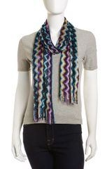 Missoni Zigzag Scarf Purple - Lyst