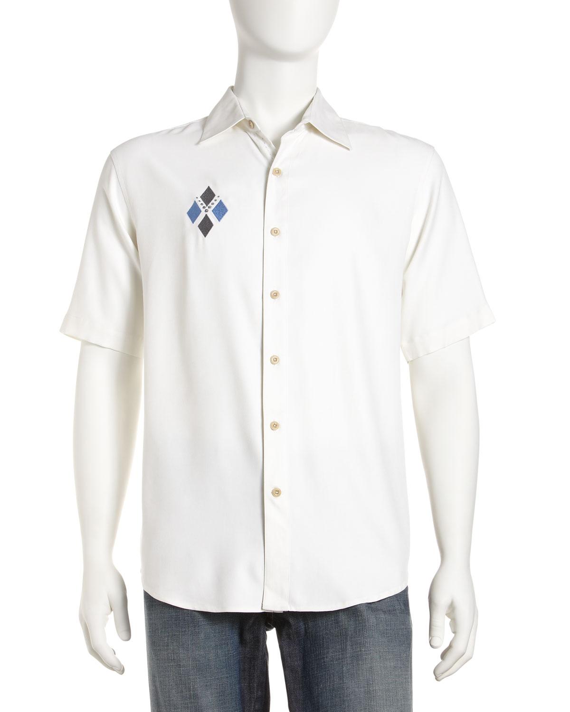 Lyst Nat Nast Embroidered Silk Shirt White In White For Men