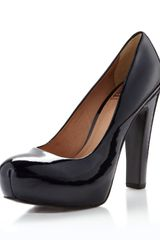 Pour La Victoire Irina Ii Patent Leather Platform Pump Midnight Navy - Lyst