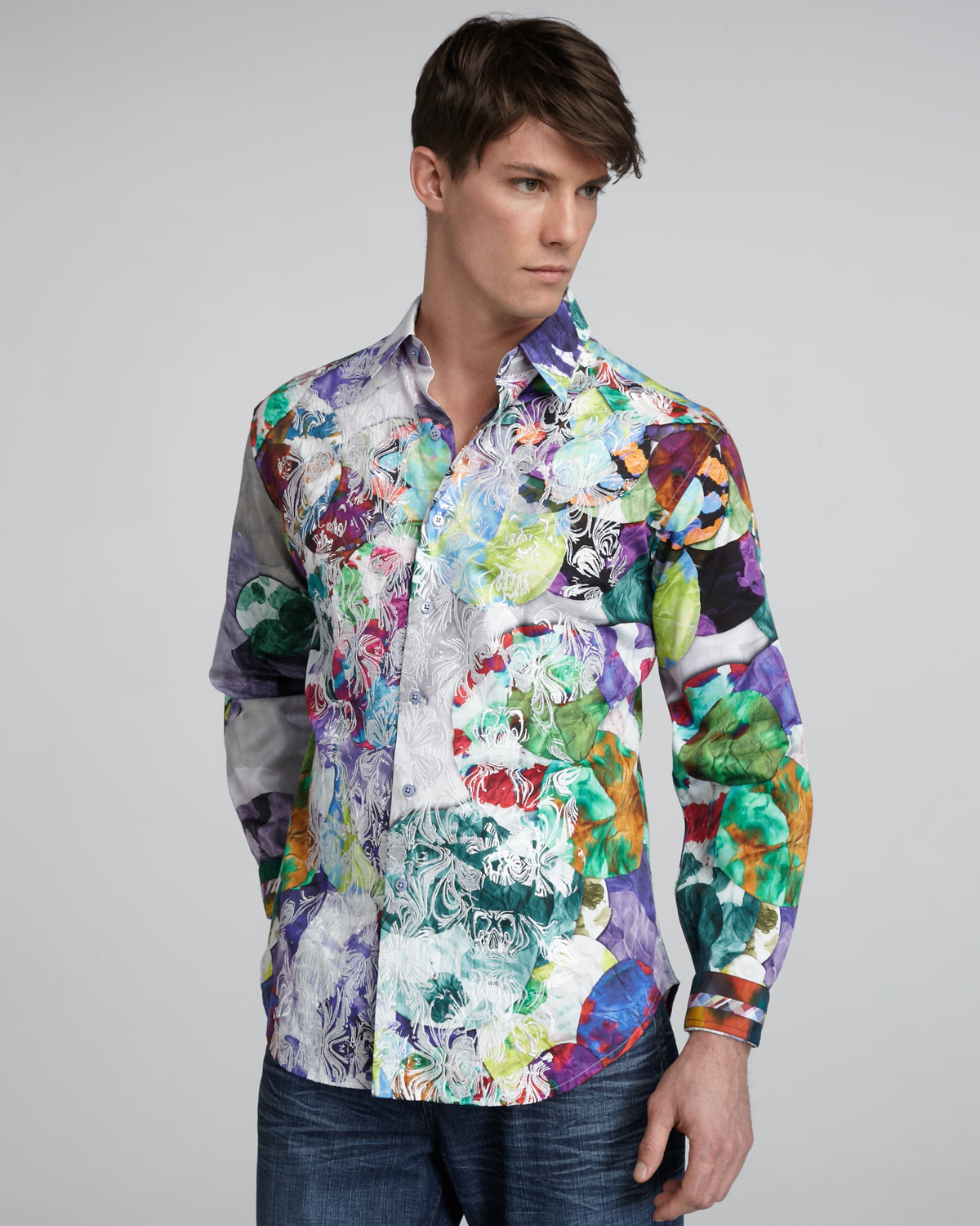 Robert graham limited edition patrick sport shirt for men for Where are robert graham shirts made