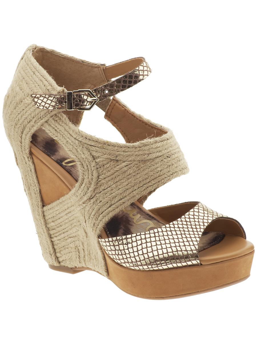 Sam Edelman Katie Sandal In Beige Egyptian Gold Natural