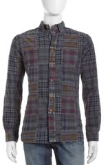 Tailor Vintage Patchwork Plaid Shirt Barcelona - Lyst