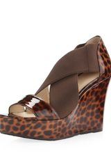 Taryn Rose Sawyer Wedge Leopard Print - Lyst