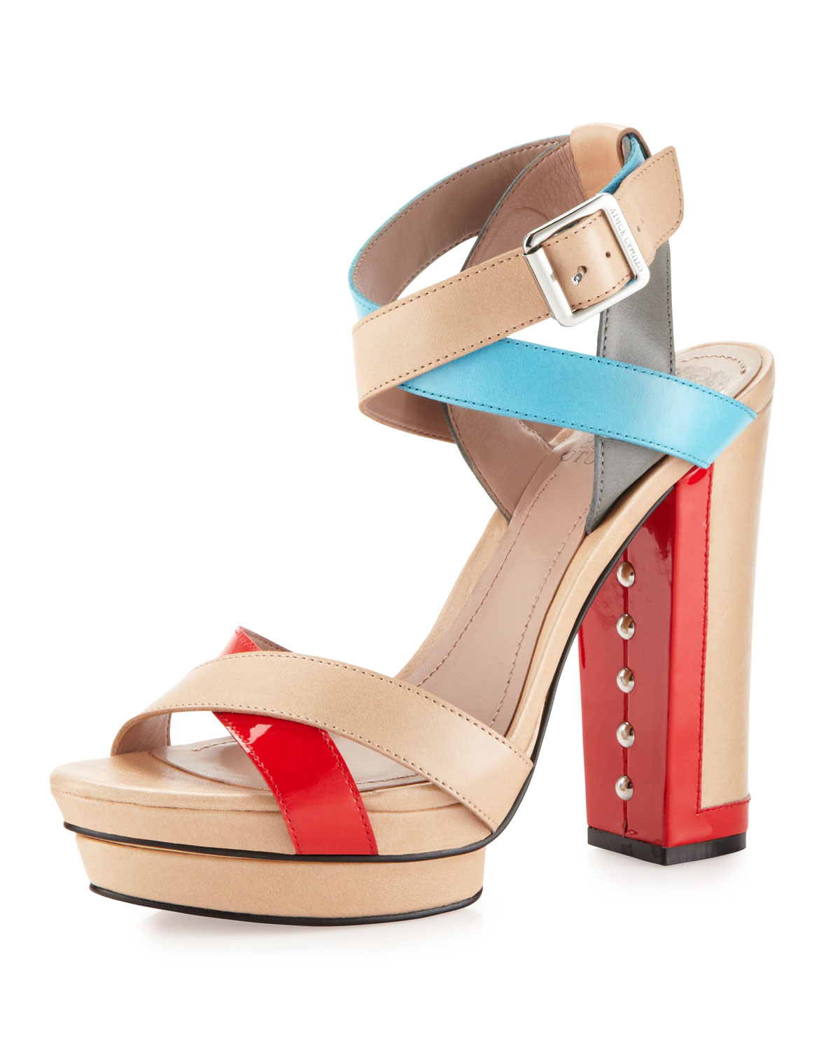 6398fdd3ea5 Lyst - Vince Camuto Pamir Colorblock Thick Heel Platform Sandal in Blue