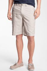 Wallin & Bros. Wallin Bros Tan Stripe Shorts - Lyst