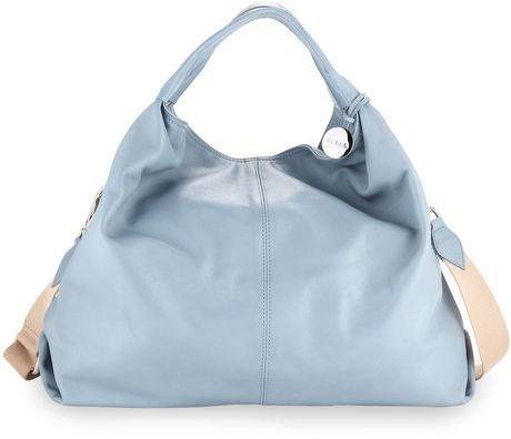 Furla Elisabeth Shopper Light Blue in Blue (marang) - Lyst