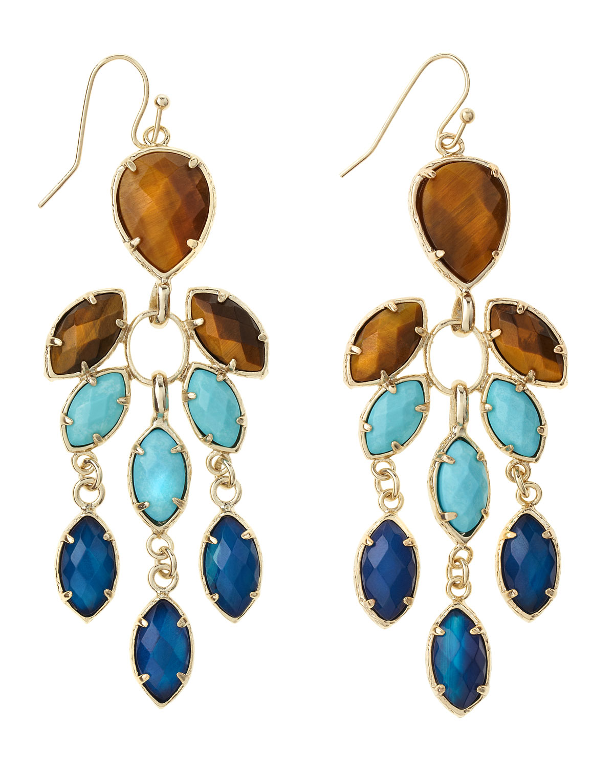 Lyst kendra scott multistone chandelier earrings parasol in blue gallery arubaitofo Images