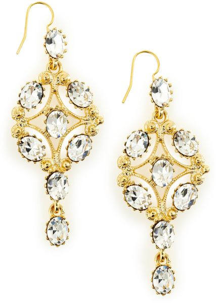 Kenneth Jay Lane Chandelier Earrings in Gold (null) - Lyst