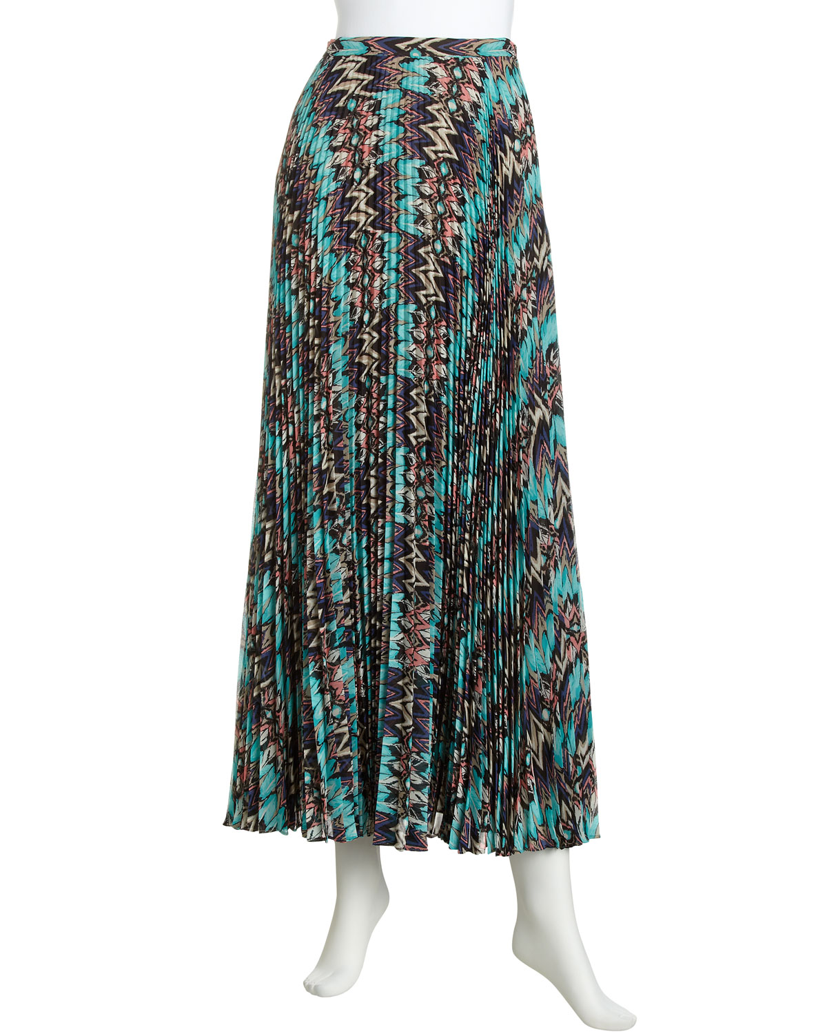 laundry by shelli segal accordion pleated maxi skirt in