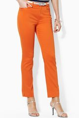 Lauren by Ralph Lauren Zip Pocket Crop Pants - Lyst