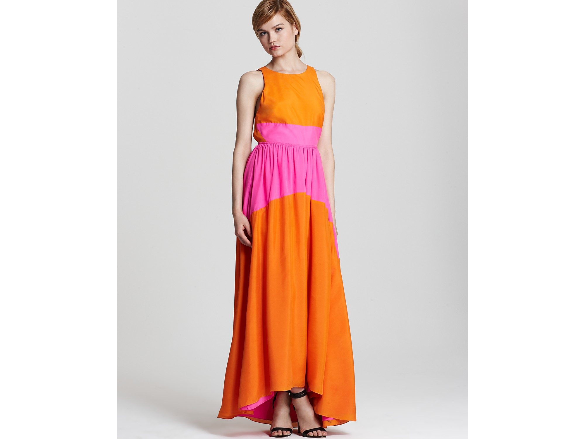 tibi cotton silk v-neck maxi dress | ivo hoogveld
