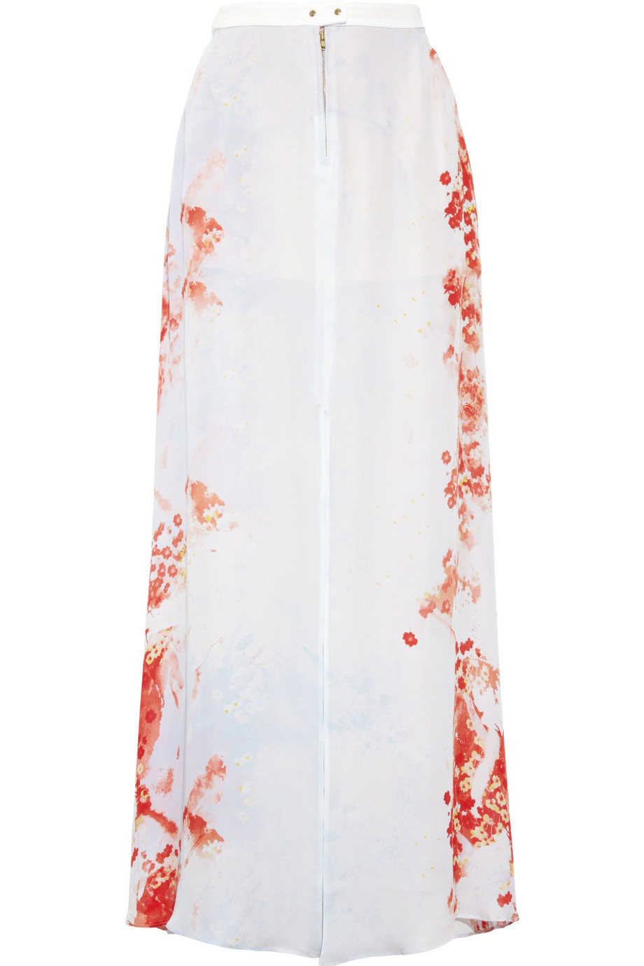 A.l.c. Allegra Floral Print Silk Georgette Maxi Skirt in Red | Lyst