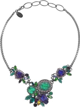 Erickson Beamon Bossa Nova Rhodiumplated Swarovski Crystal Necklace - Lyst