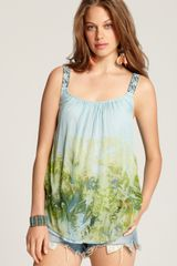 Free People Top Firecracker Print Garden Tie Dye - Lyst