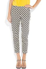 J.crew Café Polkadot Stretch Cotton Capri Pants in Brown (café) - Lyst