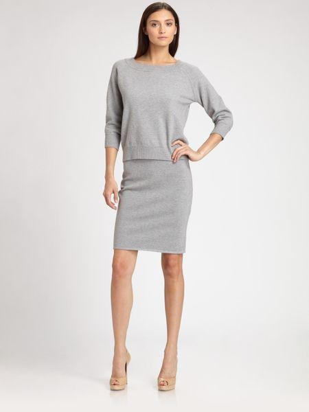Max Mara Cashwool Skirt in Gray (grey)