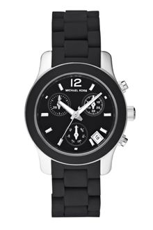 Michael Kors Womens Chronograph Black Silicone Bracelet 34mm First Macys - Lyst