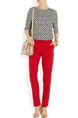 Michael Kors Samantha Stretch Woolblend Pants in Red - Lyst