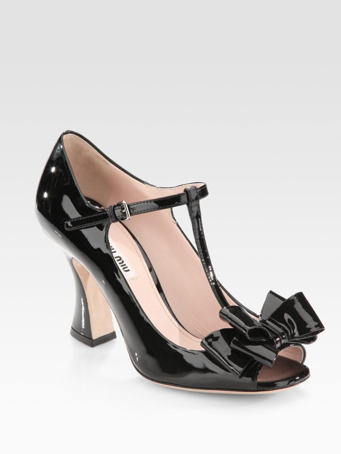 discount enjoy Miu Miu Patent Leather T-Strap Pumps clearance classic discount real r7j7jr4U