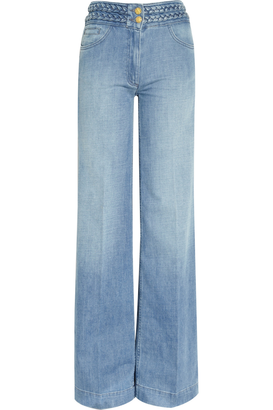 Sandro Pop High-rise Wide-leg Jeans in Blue | Lyst