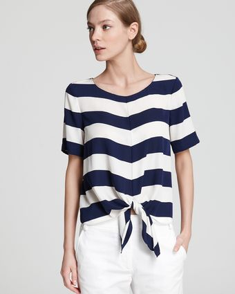 Tibi Top Striped Tie - Lyst