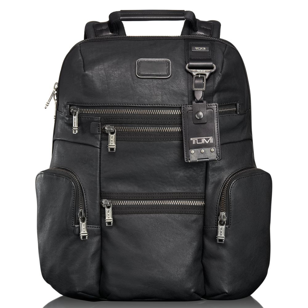 33dcbc9af5 Lyst - Tumi Alpha Bravo Knox Leather Backpack in Black for Men