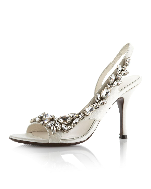 Vera Wang Lavender Elizabeth Slingback Sandal In White