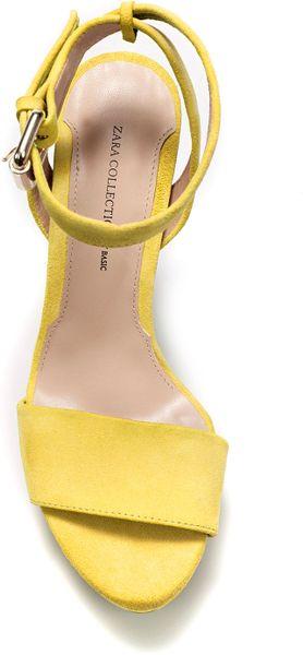 Zara Glitter Platform Sandals 62