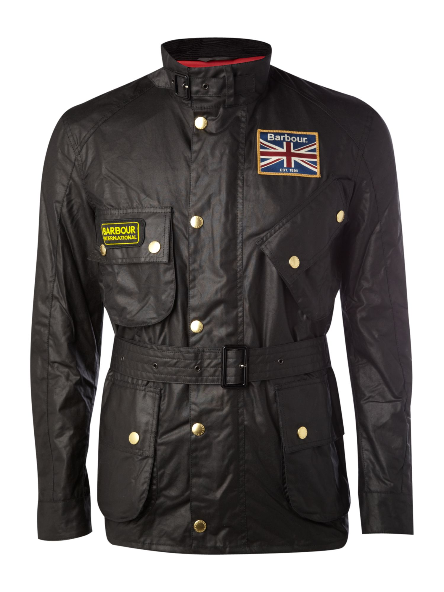 Barbour Sapper Jacket >> Lyst - Barbour Union Jack Lined Motorcycle Jacket in Black for Men