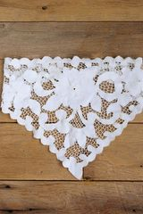 Free People Vintage White Cotton Embroidered Handkerchief - Lyst