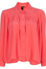 Labour Of Love Pleated Blouse - Lyst