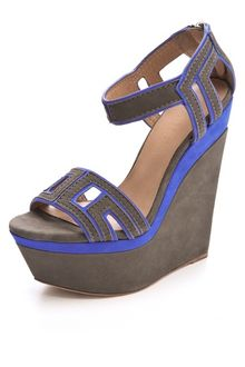L.a.m.b. Iva Suede Wedge Sandals - Lyst