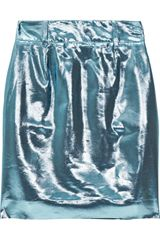 M Missoni Metallic Silk Blend Skirt - Lyst