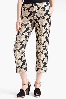 Marni Straight Leg Brocade Crop Pants - Lyst