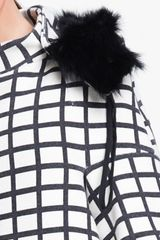 Marni Edition Check Print Coat in Beige (cream black) - Lyst