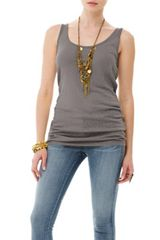 Michael Stars 1x1 Slub Scoop Neck Tunic Tank - Lyst