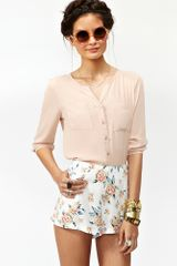 Nasty Gal Barely There Blouse - Lyst