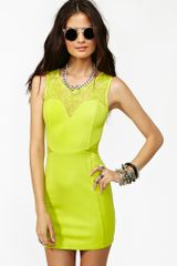 Nasty Gal Neon Lace Dress