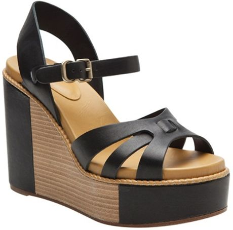 See By Chloé Wedge Platform in Black - Lyst