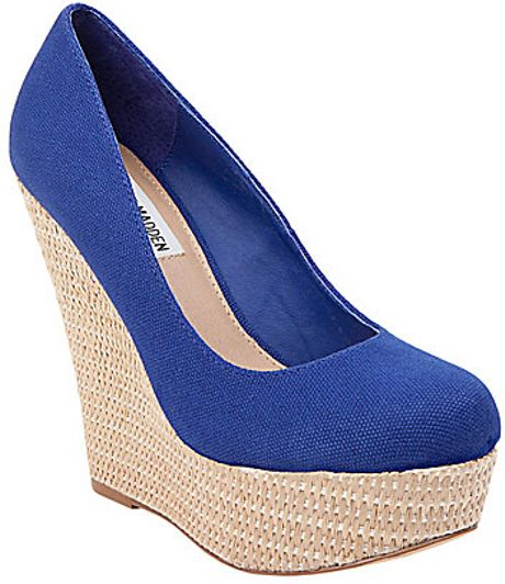 Royal Blue Wedges Shoes Wedge Shoes in Blue