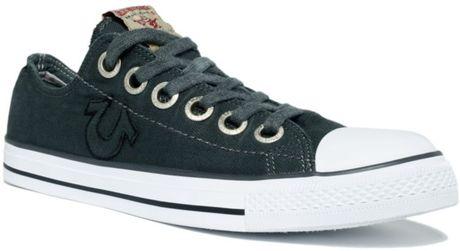 True Religion Dylan Low Sneakers In Gray For Men Dark