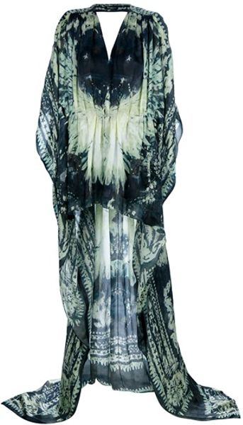 Balmain Printed Maxi Dress in Gray (grey) - Lyst