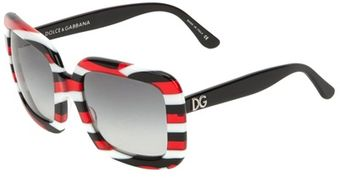 Dolce & Gabbana Archive Striped Sunglasses - Lyst