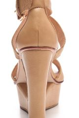 Dolce Vita Orla Cutout Wedge Sandals in Beige (nude) - Lyst