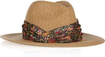 Eugenia Kim Kurt Embellished Toyo and Cottonblend Fedora - Lyst