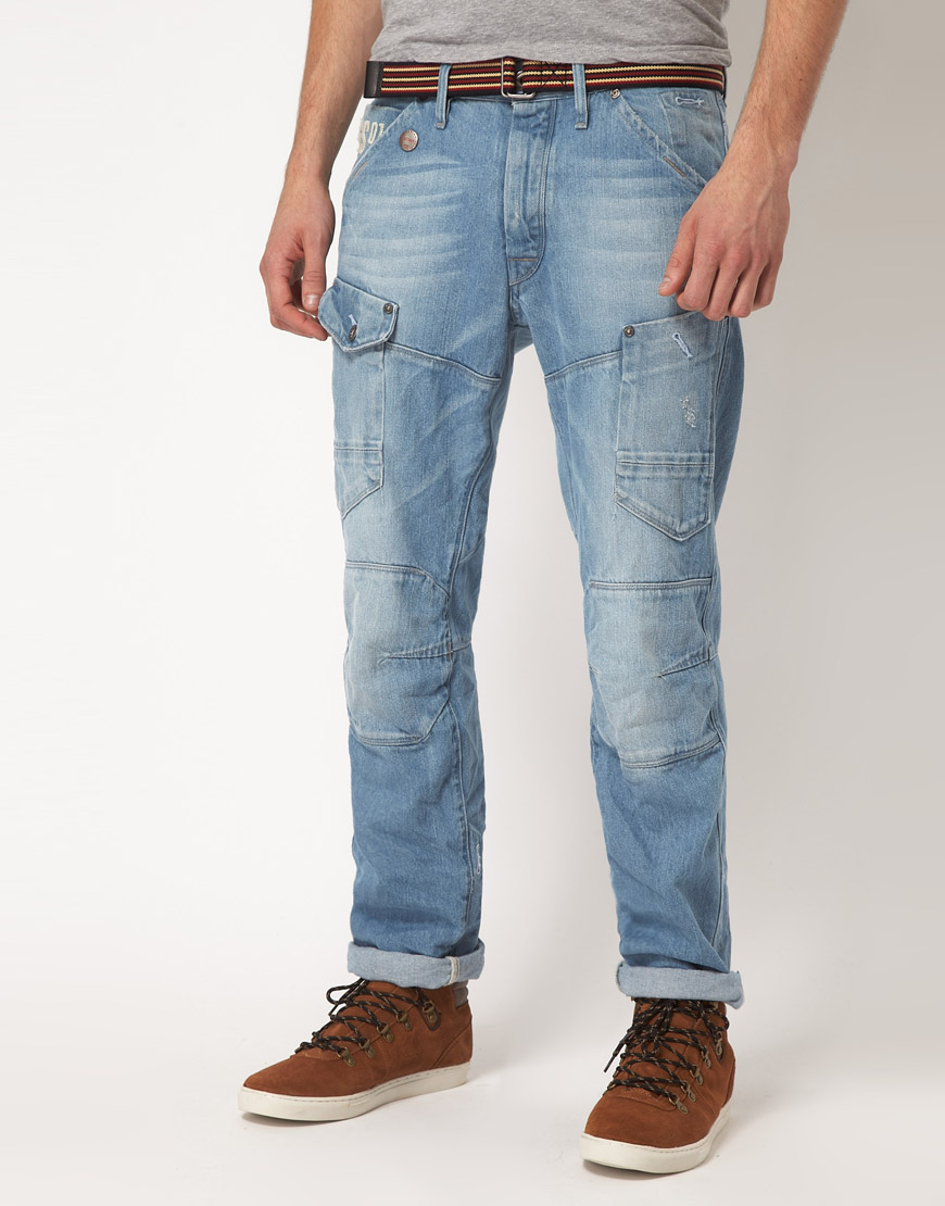 g star raw gstar general tapered jeans in blue for men lyst. Black Bedroom Furniture Sets. Home Design Ideas
