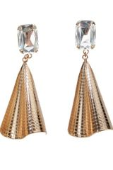 Halaby Fan Earrings in Gold - Lyst