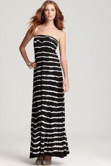 Black Strapless Maxi Dress on Hard Tail Long Strapless Dress In Black  Black  White    Lyst
