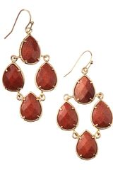 Kendra Scott Carlone Chandelier Earrings Goldstone - Lyst